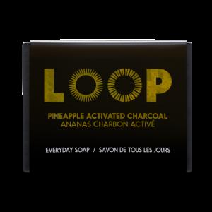savon loop ananas charbon activé