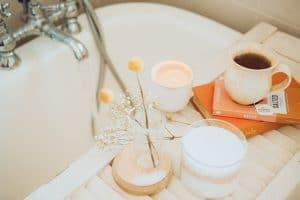 prendre un bain pour prendre soin de soi
